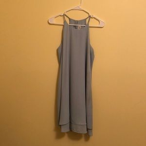 Mint shift dress with high neck